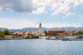 View of the city and harbor Zakynthos, Greece — Stock Photo