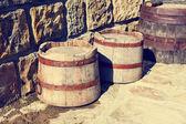 Vintage holzfässern — Stockfoto