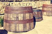 Barriles de madera Vintage — Foto de Stock