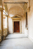 Courtyard of Nowy Wisnicz Castle, Poland  — Foto de Stock