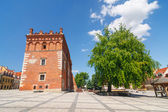 Town Hall in Sandomierz in Poland — Stock Photo