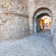 Entrance to the Knights Grand Master Palace, Rhodes, Greece — Stock Photo #49538859