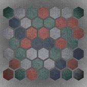 Grunge geometric hexagon pattern — Stockfoto