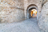 Entrance to the Knights Grand Master Palace, Rhodes, Greece — Stock Photo