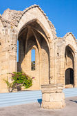 Medieval church ruins, Rhodes, Greece — Stock Photo