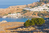 Panorama of Lindos. Rhodes, Greece.  — Foto de Stock