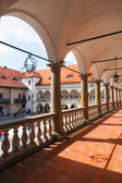 Courtyard of Niepolomice Castle, Poland  — Foto de Stock