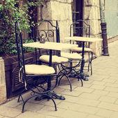 Vintage outdoor restaurant — Stock Photo