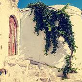 Vintage photo of narrow street in Lindos. Rhodes, Greece — ストック写真