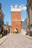 Sandomierz, Poland - MAY 23: Sandomierz is known for its Old Town, which is a major tourist attraction. MAY 23, 2014. Sandomierz, Poland.  — Zdjęcie stockowe