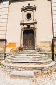 Entrance to the church — Stock Photo