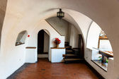 Interior of Medieval Castle of Bran also known for the myth of Dracula.  — 图库照片