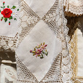 Romanian traditional fabric — Foto Stock