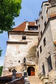 中世の城のドラキュラの神話のためにまた知られているふすまの. — ストック写真