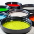 Color filters for lenses on bright background — Stock Photo #51276843