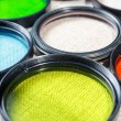 Color filters for lenses on bright background — Stock Photo #51276853