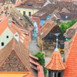 View of Sighisoara from the clock tower, Romania — Stock Photo #51277187