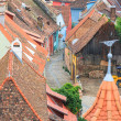 View of Sighisoara from the clock tower, Romania — Stock Photo #51507089