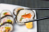 Close up of sushi, Japanese seafood — Stockfoto