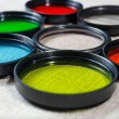 Color filters for lenses on bright background — Stock Photo #51632533