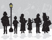 Carolers — Stock Vector