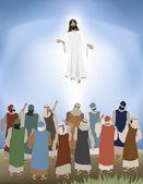 Jesus Ascends — Stock Vector