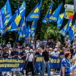 "Unidentified protestors of ""Rise up, Ukraine!"" demonstration mar — Stock Photo"