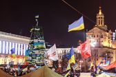 KIEV (KYIV), UKRAINE - DECEMBER 4, 2013: Hundreds of thousands p — Stock Photo