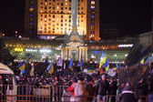 KIEV (KYIV), UKRAINE - DECEMBER 4, 2013: Hundreds of thousands p — Stok fotoğraf