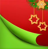 Christmas vector background with sweets — 图库矢量图片