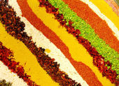 Striped background (spices) — Stock Photo