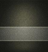 Vector background with gray denim texture — Stock Vector