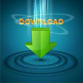 Vector pictogram downloaden — Stockvector