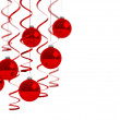 Stock Photo: Christmas balls on white background.