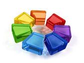 Wiel in regenboogkleuren — Stockfoto