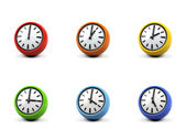 3d clock on a white background. — Stock Photo