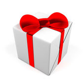 Gift box isolated on white. 3D image. — Stock Photo