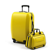 Suitcase isolated on a white background. — Stock Photo