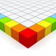 Colorful cubes. — Stock Photo