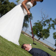 Golf and wedding — Stock Photo #30922175