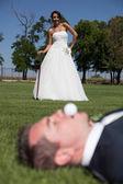 Golf y boda — Foto de Stock