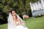 Nešťastný nevěsta — Stock fotografie