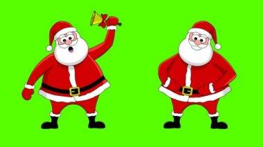 Funny Santa Claus. Green screen — Stock Video