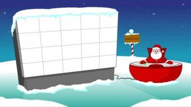 Santa and big screen — Stock Video
