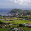 The view of Horta Bay, Faial - Stock Photo