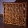 Stylish wicker basket — Stok Fotoğraf #18857461
