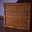 Foto Stock: Stylish wicker basket