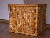 The stylish wicker basket — Stock Photo
