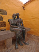 Sculpture in Aguimes, Gran Canaria, Spain — Stock Photo