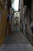 Schodiště v girona, katalánsko, španělsko — Stock fotografie